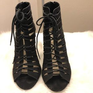 F21 Lace Up Wedges